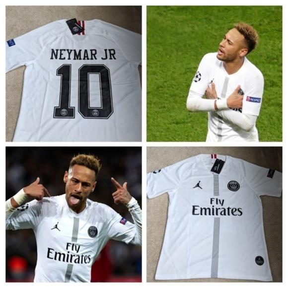 new styles 0b78e 39f9b Men's Jordan PSG Neymar Jr 18/19 White Home Jersey NWT